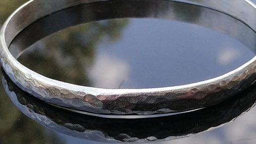 chunky hammered bangle