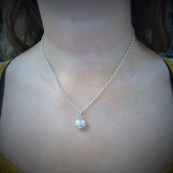 Silver Smarty Bead on Tara