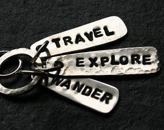 silver tag pendant