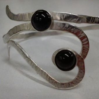 silversmithing course gem setting bangle