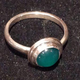 silversmithing course gem set ring tess wyedean