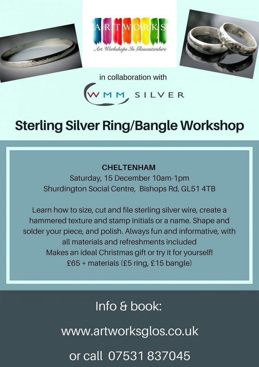 Cheltenham silver ring bangle
