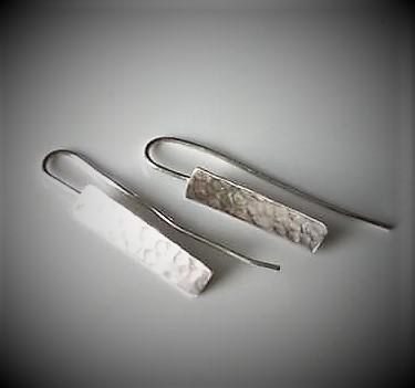 Hammered Rectangle earrings
