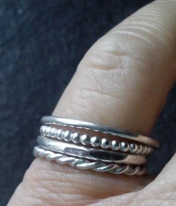silver stacking rings